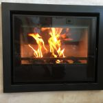 Inset stove test fire