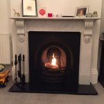 Open fire with cast insert & original marble surround